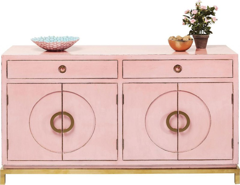 Kare Design Disk Dressoir Pink - 150x50x84 - Roze -