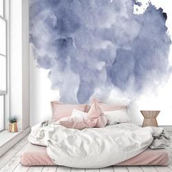 Zelfklevend behang Waterverf Wolk 300x250 cm