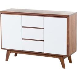 Dressoir bruin-wit - kast - lowboard - tv-kast - tv-meubel - PITTSBURGH