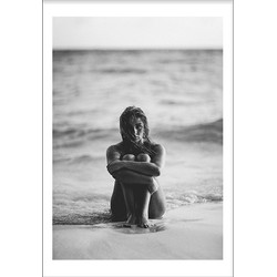 Girl At The Beach Poster (50x70cm)
