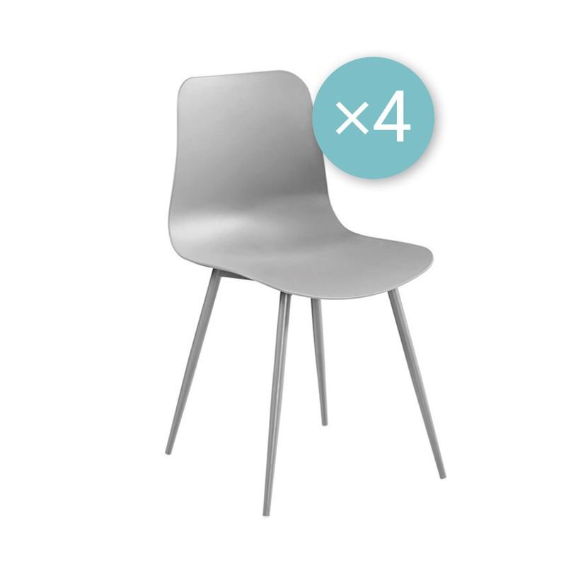 Fury stoel - grijs - set van 4 -