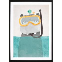 Snorkel Nijlpaardje Poster (50x70cm)