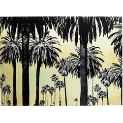 Kare Design Schilderij Glass Metallic Palms 120 x 180