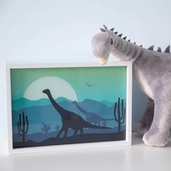 Wandlamp Rechthoekig Dino Wit Hout - Limundo