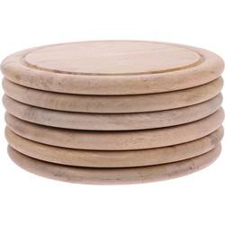 HK-living bord broodplank mango hout 25x25x2cm