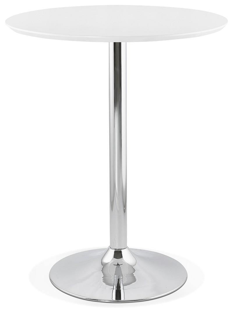 Moderne Witte Statafel.24designs Lennox Statafel H110 Cm Rond O90 Cm Wit Mdf Tafelblad