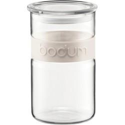 Bodum - Presso Vorratsglas 1,0 l, cremefarben