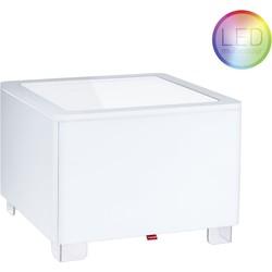 Moree Ora LED Accu Salontafel 60x60x45 - Wit
