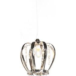 Art Deco Pendant Lamp Steel - Crown