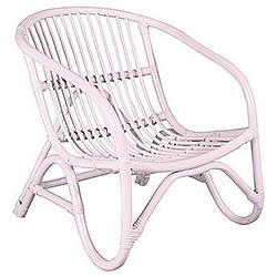 Kidsdepot Bamba Kinderstoel Rotan 45 x 55 x 55 cm - Wit