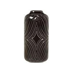 Living by Christiane Lemieux Black ceramic large vase, Black