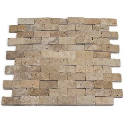 Travertine Light Splitface 2,3 x 4,8 x 1 cm