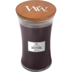 Woodwick Large Candle Black Plum