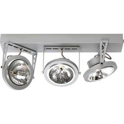 ETH Plafondspot Lofar 3-Lichts - Mat Zilver