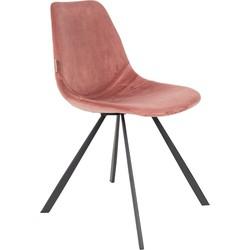 Dutchbone Eetkamerstoel Franky velvet Old Pink 83 x 46 x 56