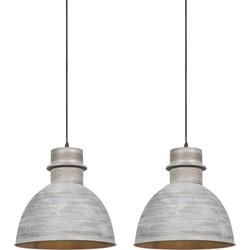 Set of 2 Pendant Lamp Dory Grey