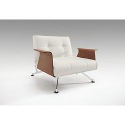 Innovation Fauteuil Clubber Armleuningen - Leatherlook 588 - Wit