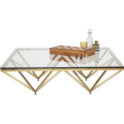 Kare Design - Salontafel Network - 32x105x105 - Goudkleur