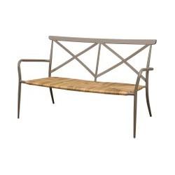 Oseasons Milos Rattan & Aluminium 2 Seater Arm Chair