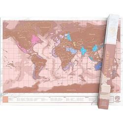 Luckies Kras Wereldkaart Scratch Map - Rosé Goud