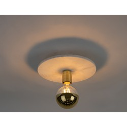 Modern Ceiling Lamp Brass with Marble - Disc