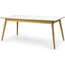 Tenzo Eettafel Dot - 180x90x75 - Wit HPL Tafelblad - Eiken Poten