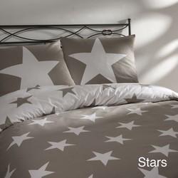 Day Dream Dekbedovertrek Stars Zand-240 x 200/220 cm