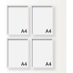 A4 Frame - Wissellijst - Fotolijst - Zwart of Wit