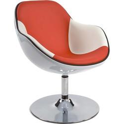 Kokoon Daytone design stoel - wit/rood