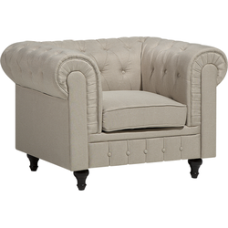 Fauteuil stof beige CHESTERFIELD L