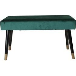 Bankje fluweel groen - 78x30x45cm - Housevitamin