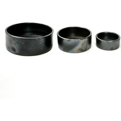 The Burned Cylinder Dish - Black - SET3