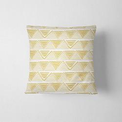 Tuinkussen Bohemian print geel DesignClaud - 40 x 40 cm kussenhoes + vulling