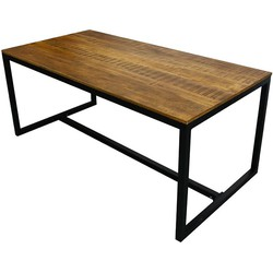 Kick industrial Eettafel Square 180