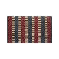 Multicolour Hand Loomed Natural Fiber Patterned Rug 60 x 100 cm