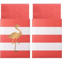 Delight Department  Preppy Flamingo servetten | 20 stuks