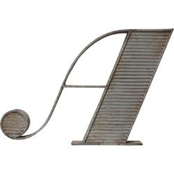 HK-living letter A metaal grijs met antiek afwerking 102x70x9cm