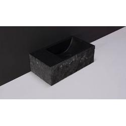 Forzalaqua Venetia Fontein met Gekapte Zijkanten Links 40x22x10 cm Antraciet
