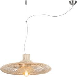 Hanglamp Kalahari rotan enkel kap naturel, L