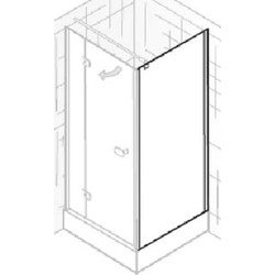 Ben Martino Soft Zijwand 80x200cm Chroom / Grijs Glas