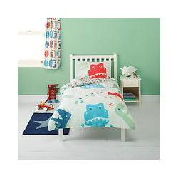 little home at John Lewis Dino Was Here Single Duvet Cover and Pillowcase Set