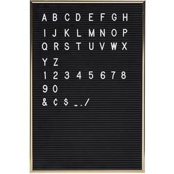 Jay Retro Letterbord Zwart/Goud - Incl. 286 Witte Tekens