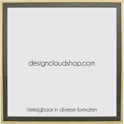 Houten wissellijst Groen/Blank kunststof venster - Div. formaten - 70x90 cm