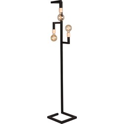 Floor lamp Loco by LABEL51 is a characteristic lamp with an eye-catching, simplistic design. The cool sleek lines, combined with the striking wooden detail make this into a designer piece that looks beautiful in every room.<br>