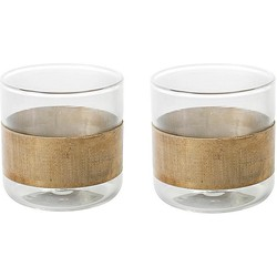 Serax Glas 7 cm Koper - Set van 2