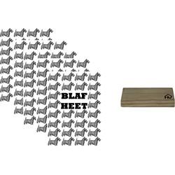 Kaarthouder+5 Kaarten A5 Blafheet-10x15cm-Inclusief houten kaartenhouder naturel-Housevitamin