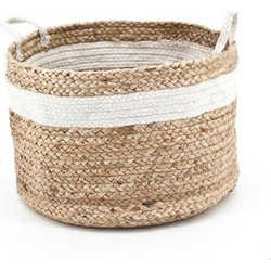 By Boo Basket Jute natural white