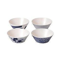 Royal Doulton Pacific Melamine Cereal Bowl, Set of 4, Blue, Dia.15cm