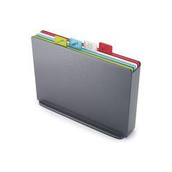 Joseph Joseph Index Large Chopping Board Set, Graphite