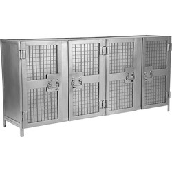 Sideboard Gate by LABEL51 is an incredibly industrial and robust piece of furniture made of pure and unprocessed metal, executed in the colour vintage. The robust metal with coarsely finished surfaces in combination with the impressive design provide...